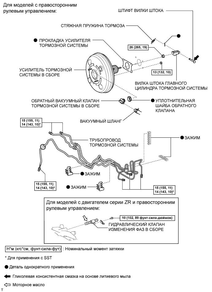 Схема тормозной системы тойота королла